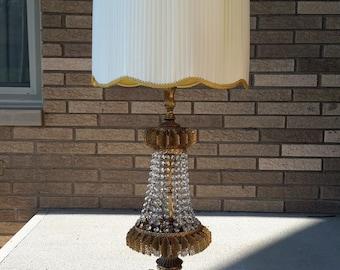 Mid Century Hollywood Regency Prism Lamp