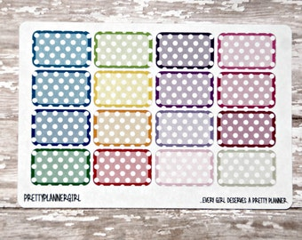 Polka Dot Half Boxes