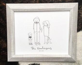 Custom Family Drawing/ small family