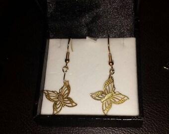 Butterfly earings, earings , jewellery costume jewellery,