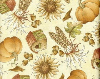 Fall Harvest 100% cotton fabric, sold by the yard
