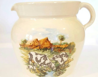 Yesteryears Hand Turned Pottery Pitcher Marshall Texas