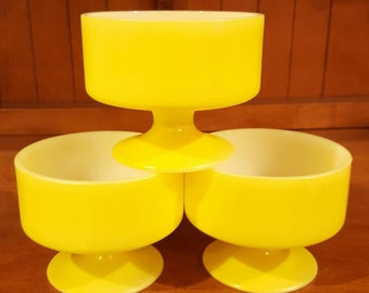 Yellow Federal Glass Sherbet Dishes