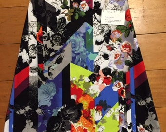 Ladies A-line skirt, size 8 AU, On Sale   abstract fabric, womans skirt, womens skirt, made in Australia