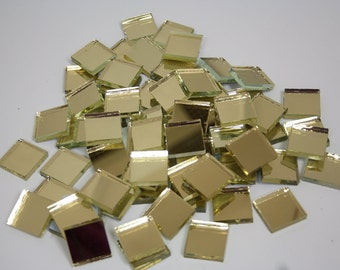 1 lb 1 inch Gold mirror glass tiles