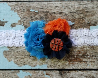 OKC Thunder baby headband, Oklahoma City basketball headband
