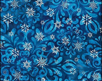 Artisan Batik - SNOWFLAKE TILE ab-15561-277 winter with silver