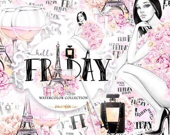 Paris Clipart Fashion Clpart Party Hello Friday Valentines Feminine Beauty Blog