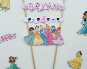 Disney princess cake topper / disney princess party / disney princess cake / princess / disney princess / princess cake topper / cake topper