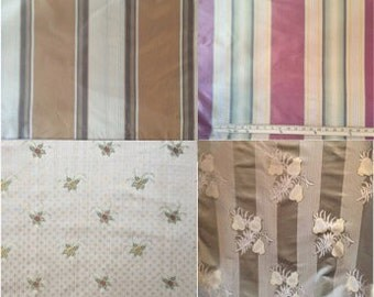 Fabric Swatches Samples, Silk, Satin, Woven, Velvet, etc.