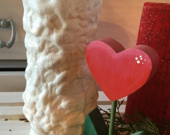 White Frosted Vase,Weddings,Valentines Day,Glitter,Chalkpaint