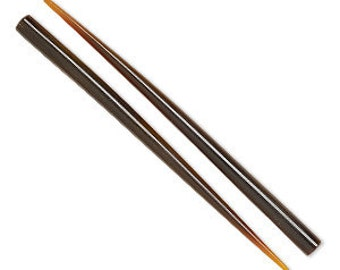 Horn Hair Stick, Dark Brown Hair Stick, 6 inch Hair Stick, End Drilled, 2 each, D756