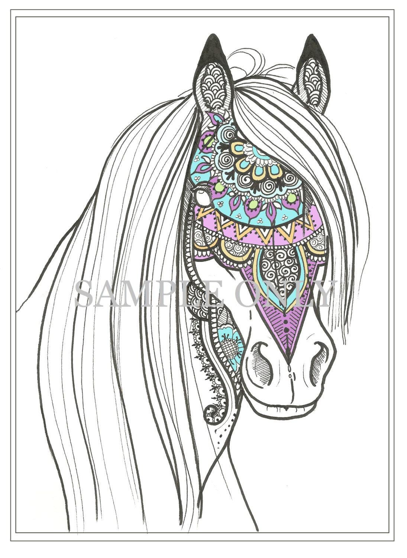 Henna Paard Kleurplaat