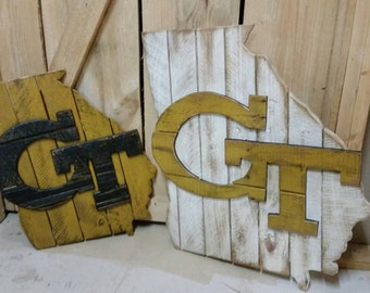 Georgia Tech wooden sign