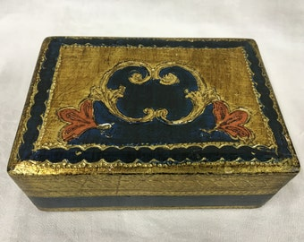 Hand Painted Box from Italy