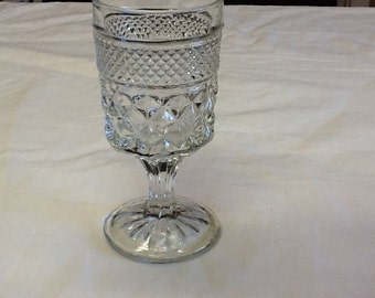Set of 6 Anchor Hocking Wexford Pattern Water Glasses/Wine Goblets