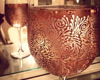 Custom Hand Painted Wine Glasses (Set of 2)