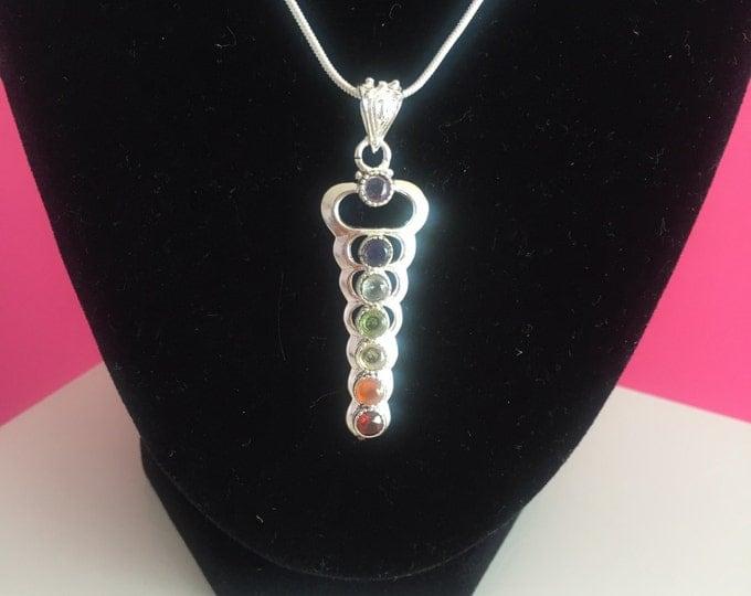 Chakra Pendant w/ Necklace / Chakra Jewelry Set  infused w/ Reiki