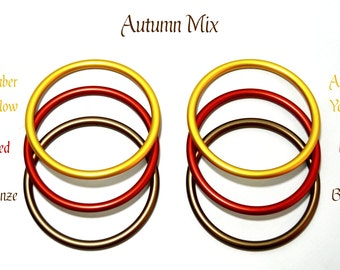 6 Pack 3 Inch Aluminum Rings for Baby Ring Sling Carrier Wrap, Autumn Mix 2 each of Red Amber Bronze DYI Crafting Rings AL-Red-Amber-Bronze