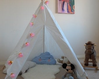 Kids Teepee Play Tent Wigwam Tipi Children & Kids teepee play tent wigwam lacechildrenu0027s