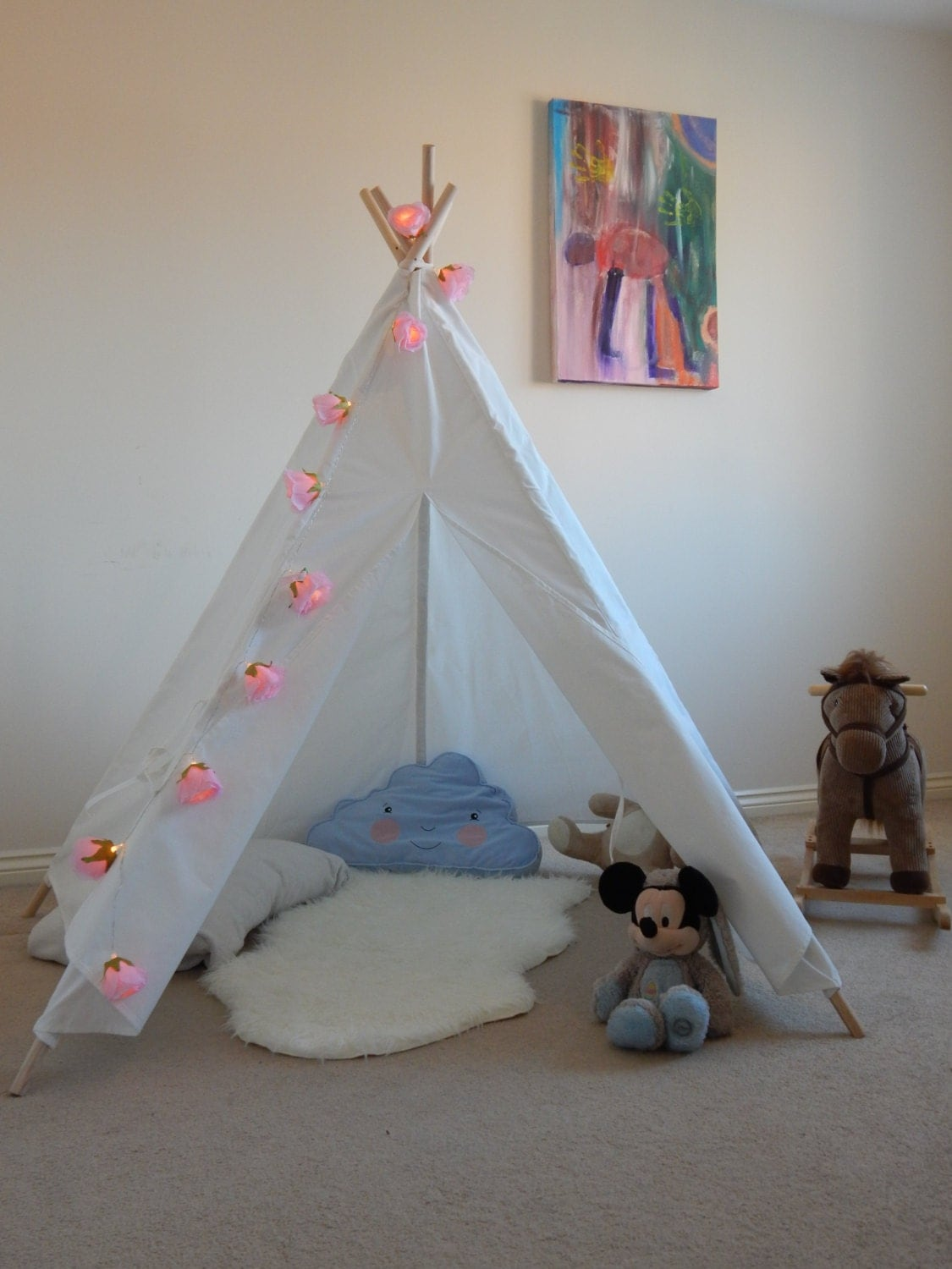 how to make a teepee for a child