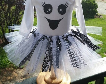 Boo-tiful Baby Tutu skirt and Onsie