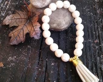 White Torquise Bracelet