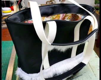 Bag Armony basket out of leather