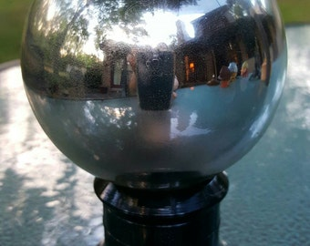 Vintage reflection ball on stand,  1930s reflection ball , antique mirror ball