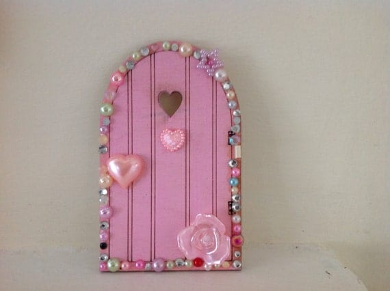 Items similar to magical hand painted fairy door on etsy for Painted fairy doors
