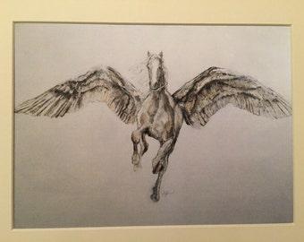 Free Postage Pegasus Fine Art Print
