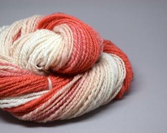 Handspun yarn | GRAPEFRUIT| 84g | merino