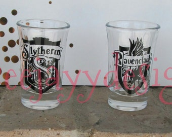 Harry Potter House Crest shot glass