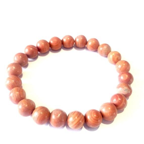 Red Malachite Stone : Semi precious red malachite gemstone bracelet sun energy