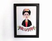 Illustration of Frida Kahlo. Print A4