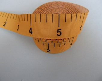"Grosgrain Measuring Tape Measure Ribbon 7/8"" 22mm"