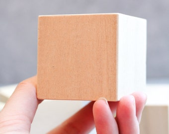 Wooden Cubes for Craft Projects - set of 4