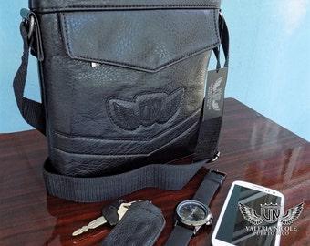 Valeria Nicole Mens Shoulder Travel Bag Black