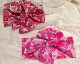Valentine's Love Headwraps, Topknots & Bow Barrettes