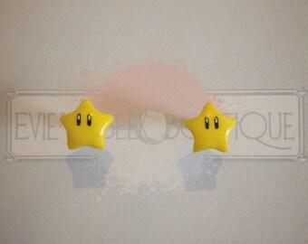 Super Mario Star Stud Earrings