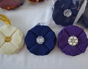 Handmade Felt Christmas Ornaments * Glitz * Blingy * Sparkle - Bulk Order of 28 (set 2)