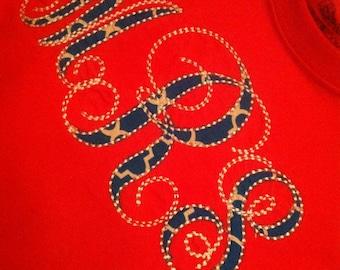 Red, White & Blue monogram shirt