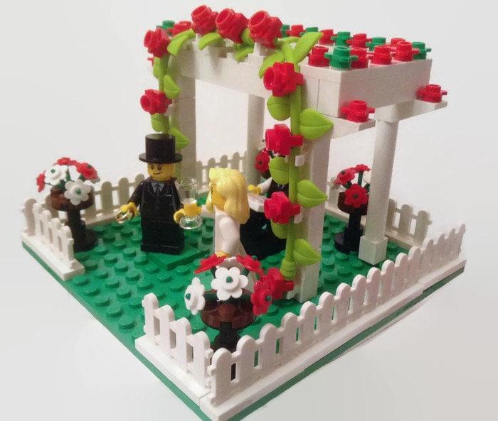 Lego Cake Topper Garden Wedding Arbor Genuine Parts