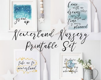 Neverland Nursery, Peter Pan, Peter Pan Nursery, Neverland, Peter Pan Quote, Peter Pan Art, Nursery Art, Peter Pan Print, Neverland Print,