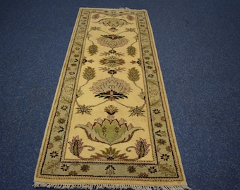High Quality hand knotted Oushak rug runner