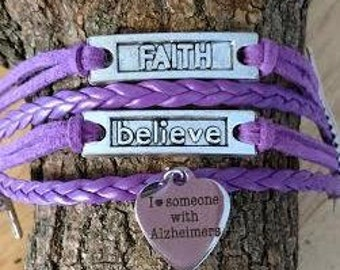 I love someone w Alzheimers Bracelet