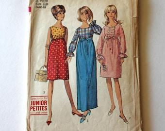 Vintage 1960s dress pattern, Sewing pattern, Vintage Simplicity Pattern, Simplicity 6411, GladstoneCottage