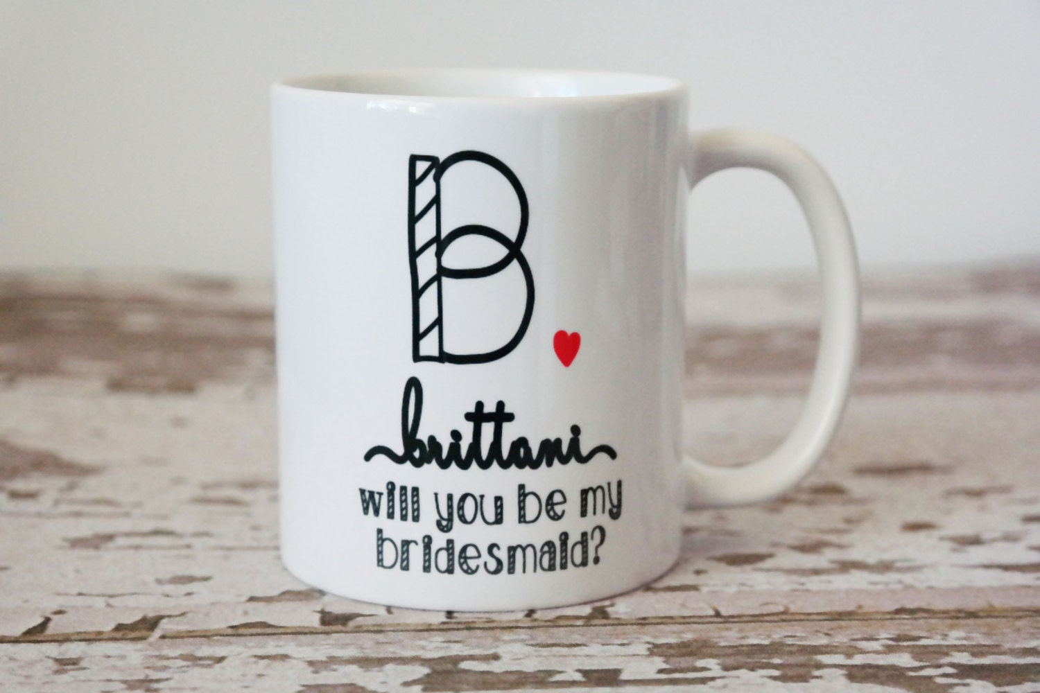 Wedding Gift Mugs Suggestions : Bridesmaid Gift Bridal Party Gifts Coffee Mug