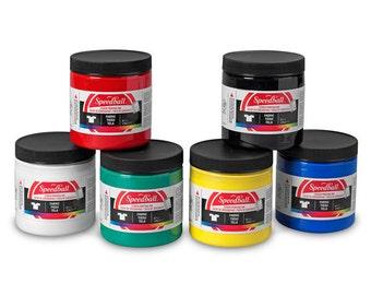 Fabric Paint Starter Set (6) 4 oz jars from Speedball Art
