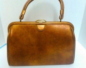 1950's Copper Colored Handbag